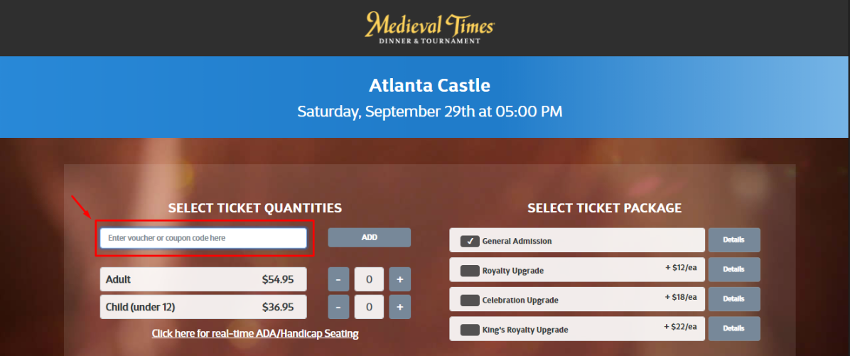 Medieval Times Coupons 01